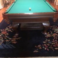 Oldhausen 8Ft Pool Table With Dining Table And Chairs