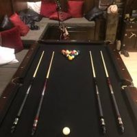American Heritage Collection Pool Table Black Felt