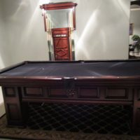 American Heritage Britton 8' Pool Table, Wall Rack, Cover